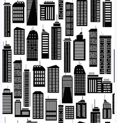 skyscraper seamless pattern vector image vector image
