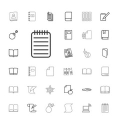 33 book icons vector