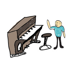 A group of musicians playing music vector