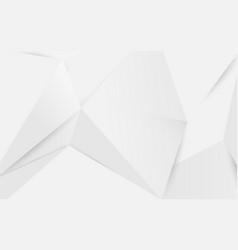 abstract white geometric polygonal 3d background vector image