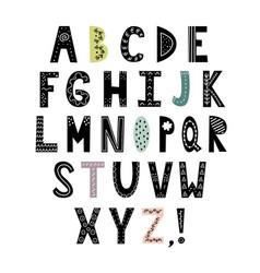 alphabet in scandinavian style vector image