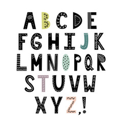 alphabet in scandinavian vector image