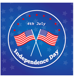 American independence day 4 th july greeting card vector