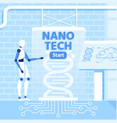 artificial intelligence and nano technology design vector image