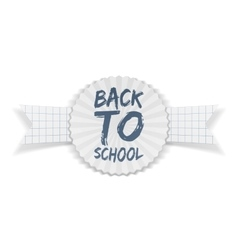 Back to School Banner on realistic Ribbon vector