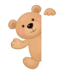 bear hiding vector image