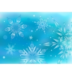 Beautiful magic hristmas background vector image
