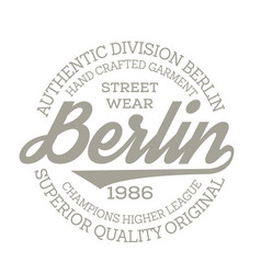 Berlin sport t-shirt design vector