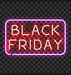 black friday neon sign in frame vector image