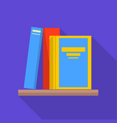 Bookshelf icon flat style vector