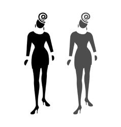 Busines lady web icon High society fashion vector
