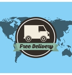 Car delivery service icon vector