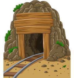 Cartoon mine entrance vector