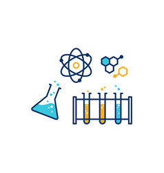 chemical physics lab icon vector image