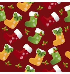 christmas sock or boot vector image