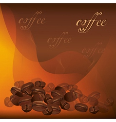 Coffee background with beans vector