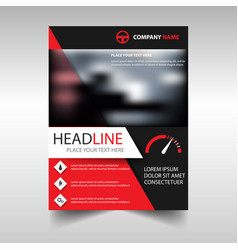 Cover red color vector