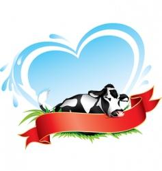 Cow label vector