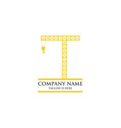 crane contruction logo vector image