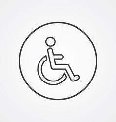 Cripple outline symbol dark on white background vector