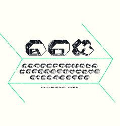 decorative sans serif bulk font vector image