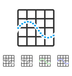 Dotted function chart flat icon vector