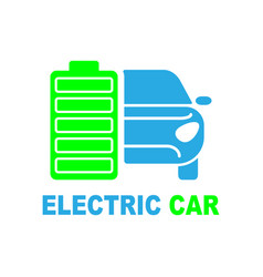 electric car premium icon isolated vector image