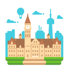 Flat design toronto old city hall vector
