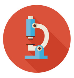 Flat Science and Medicine Laboratory Microscope vector