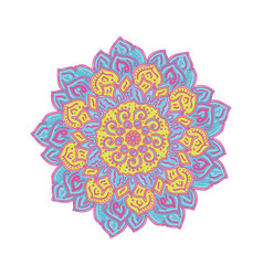 flower mandalas vintage decorative elements vector image