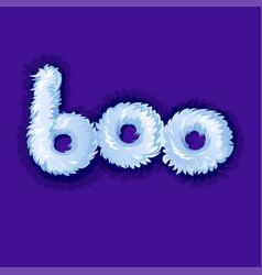Fluffy boo logo fun baby icon for game or cartoon vector
