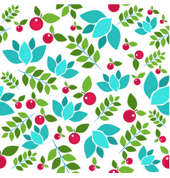 forest seamless pattern on white vector image