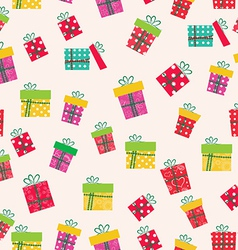 gifts icons seamless pattern greeting card mothers vector image