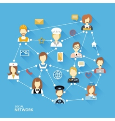 Global professional network concept vector