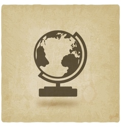 globe design element old background vector image
