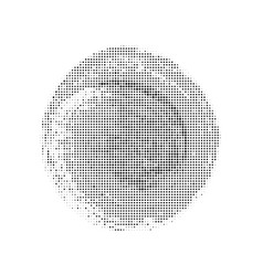 halftone black circle vector image