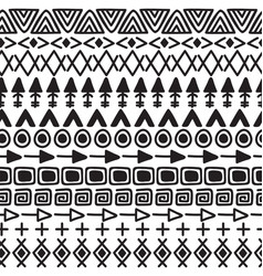 Hand drawn ethnic background tribal seamless vector