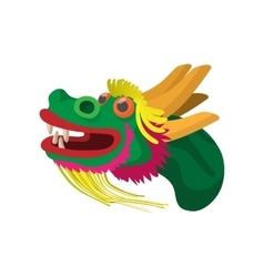 Head a chinese dragon icon cartoon style vector image