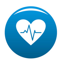 Healthy heart icon blue vector