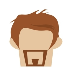 Hipster hairstyle with beard vector