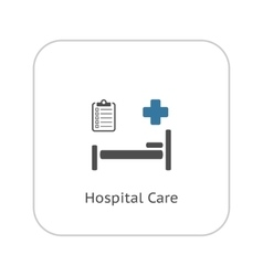 Hospital Care Icon Flat Design vector image
