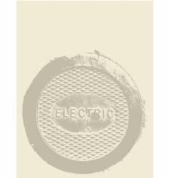 industrial metal plate vector image
