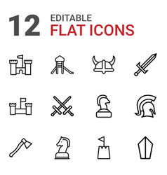 Knight icons vector
