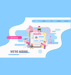 landing page for recruitment vector image