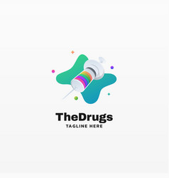 Logo drugs gradient colorful style vector