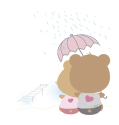 love concept couple teddy bear doll vector image