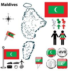 Map of Maldives vector