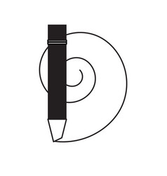marker utensil icon image vector image