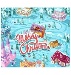 merry christmas gui - template map vector image