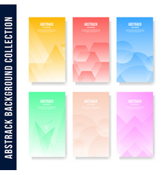 modern abstract background collection vector image